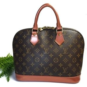 Custom Painted Louis Vuitton Monogram PM Alma Bag